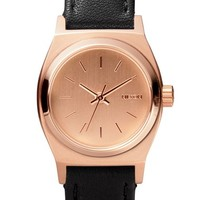 Women's Nixon 'The Small Time Teller' Leather Strap Watch, 26mm