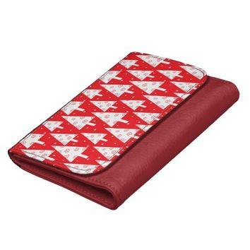 Red Christmas Trees Pattern Women's Wallet