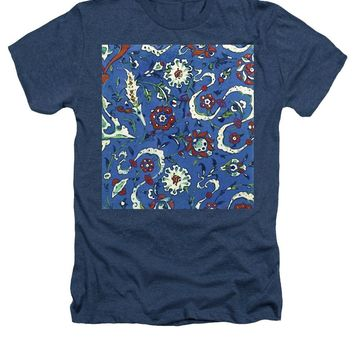 An Ottoman Iznik Style Floral Design Pottery Polychrome, By Adam Asar, No 15a - Heathers T-Shirt