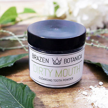 "Whitening & Remineralizing Detox Tooth Paste ""Powder"" // DIRTY MOUTH . Organic . Gluten Free . Vegan"