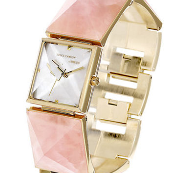 Vince Camuto Ladies Gold Tone and Pyramid Stone Bracelet Watch