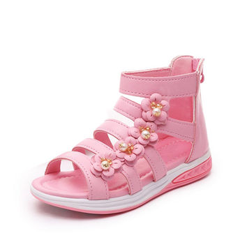 Summer style children sandals Girls princess beautiful flower shoes kids flat Sandals baby Shoes sneakers Girl Sandals