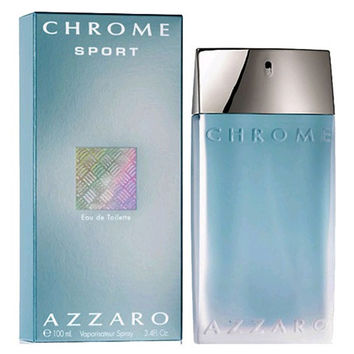 Chrome Sport by Azzaro, 3.4 oz Eau De Toilette Spray for Men