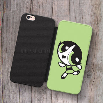 Wallet Leather Case for iPhone 4s 5s 5C SE 6S Plus Case, Samsung S3 S4 S5 S6 S7 Edge Note 3 4 5 Powerpuff Girls Buttercup Cases