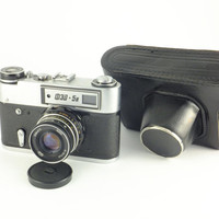 FED 5b Leica Copy Vintage Russian Soviet Camera Rangefinder Soviet Photography