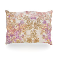"Marianna Tankelevich ""Retro Summer"" Yellow Pink Oblong Pillow"