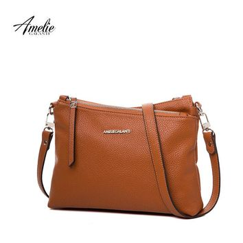 AMELIE GALANTI crossbody for women purses and handbags multi zipper pocket lightweight purse wallet purse with compartments