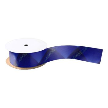 Dark Blue Lights Satin Ribbon