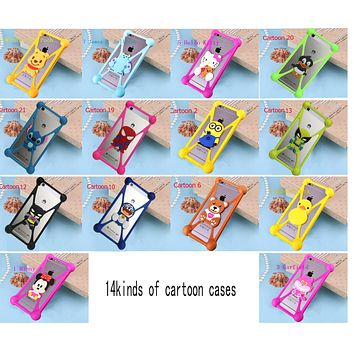 For Alcatel One Touch Pixi First 4024D Silicone Phone Case Rabbit Stitch Bear Minnie Mouse Sully Minions Rubber Covers 3d