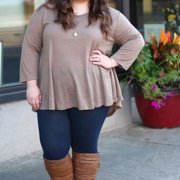 Everyday Basic in Mocha {Curvy}
