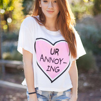 Ur Annoying crop shirt