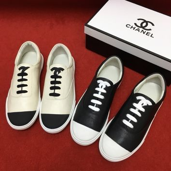 Chanel Fashion Casual Leather Sneaker
