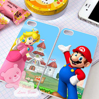 Mario and Princess Peach couple Design for iPhone 4, iPhone 4s, iPhone 5, Samsung Galaxy S3, Samsung Galaxy S4 Case