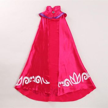 2-15T New Elsa Cape for Girl Dress Queen Coronation Children Cloak Cartoon Movie Cosplay Costume Baby Kids 2015 Brand Halloween