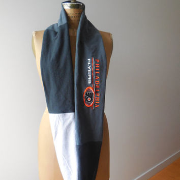 Philadelphia Flyers T Shirt Infinity Scarf / Eternity Scarf / Orange Black Gray / NHL Hockey / Cotton / Soft / For Her / Spring / ohzie