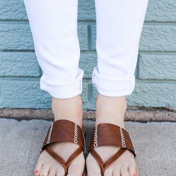 Sunshine State Sandals - Cognac