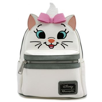 Loungefly x Disney Marie Big Face Mini Faux Leather Backpack - Disney - Brands