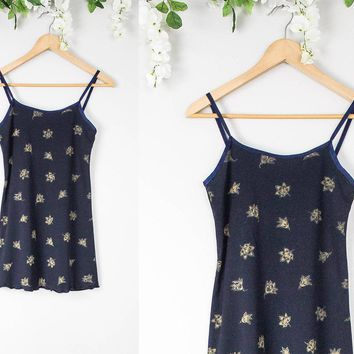 Vintage Navy Babydoll Mini Dress