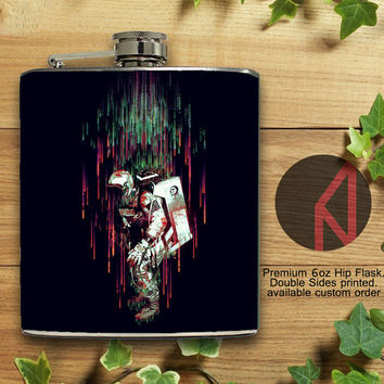 Falling from the Space 6oz Hip Flask