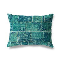 BOHO PATCHWORK Lumbar Pillow By Marina Gutierrez