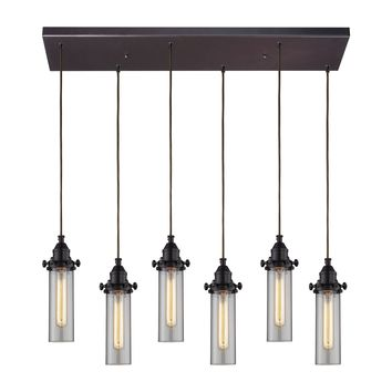 66326/6RC Fulton 6 Light Pendant In Oil Rubbed Bronze - Free Shipping!