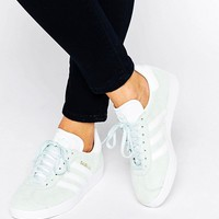adidas Originals Unisex Mint Suede Gazelle Sneakers at asos.com