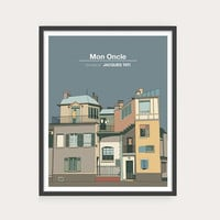 NEW! MON ONCLE, Jacques Tati, Minimal Movie Poster.