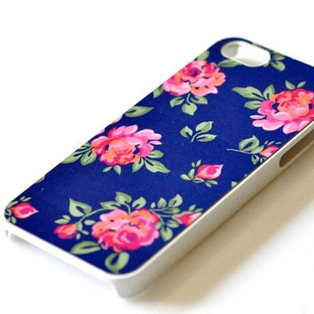Floral Flower iPhone Case - Roses Navy