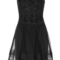 Notte by Marchesa - Lace-trimmed embellished tulle dress