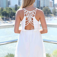 WHITE ANGEL DRESS , DRESSES, TOPS, BOTTOMS, JACKETS & JUMPERS, ACCESSORIES, SALE, PRE ORDER, NEW ARRIVALS, PLAYSUIT, COLOUR,,White,CUT OUT,BACKLESS Australia, Queensland, Brisbane