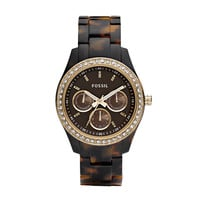 FOSSIL®  : Stella Resin Watch - Tort with Gold-Tone ES2795