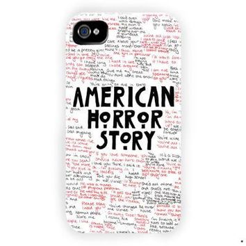 American Horror Story Quotes Supreme For iPhone 4 / 4S Case