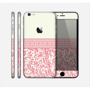The Pink & Tan Polka Dot Pattern V1 Skin for the Apple iPhone 6 Plus
