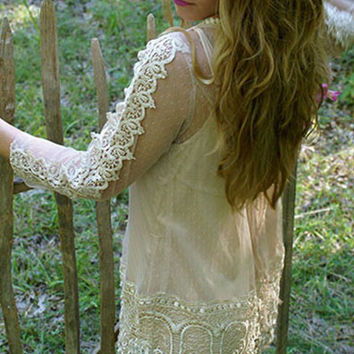 Precious Darling Tunic Dress: Beige