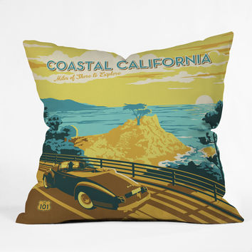 Anderson Design Group Coastal California Throw Pillow
