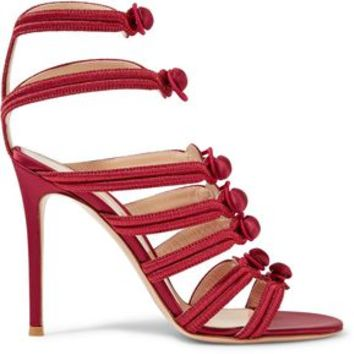 Regalia embroidered satin sandals | GIANVITO ROSSI | Sale up to 70% off | THE OUTNET
