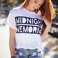 Midnight Memories Crop Shirt
