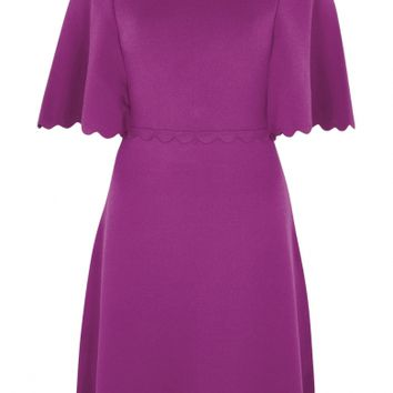 Paule Ka Violet scalloped stretch-knit dress