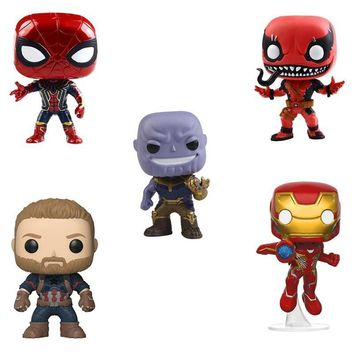 Deadpool Dead pool Taco 10cm Avengers Super Heros: Infinity War Thanos Iron man Spider man Hulk   Action Figures Toy Kids Baby Gifts Doll NO BOX AT_70_6