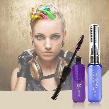 Mutlicolor Brand Hair Dye Color maquiagem Disposable One-time Temporary Mascara Hair Cream DIY Not Hurt Hair Easy Clean