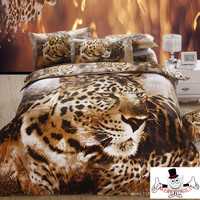 3D Bed Set Leopard Polka Dot Brown Cheetah Bedding Set and Quilt Cover