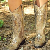 Angel Cross Cowgirl Boots