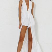 Valencia Maxi Playsuit - White