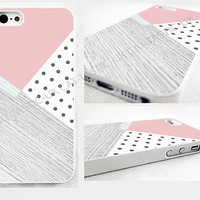 case,cover fits iPhone,iPod models>,pink,retro,Polka Dot,pic of wood,geometric