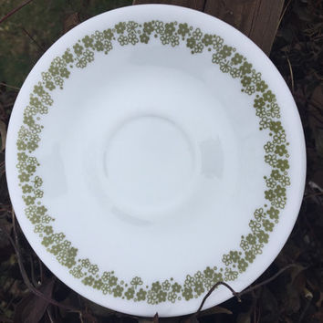 Retro Corning Corelle Spring Blossom saucers for flat cups retro kitchen dishes green flower & SALE Vintage Cabbage Pottery Dinnerware from 1350Northvintage on