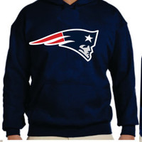 Patriots  Unisex Hoodie  New England Boston Women  Men with sleeves printed S- 5XL sizes