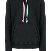 Saint Laurent Drawstring long-sleeve Hoodie - Farfetch