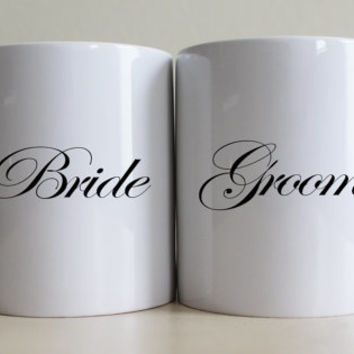Bride and Groom Mug Set