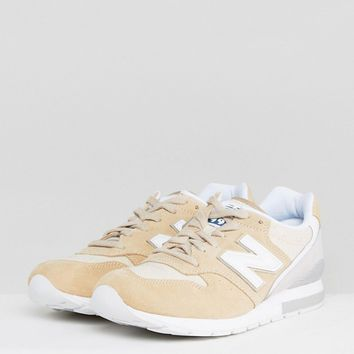 New Balance 996 Suede Trainers In Beige MRL996JY at asos.com