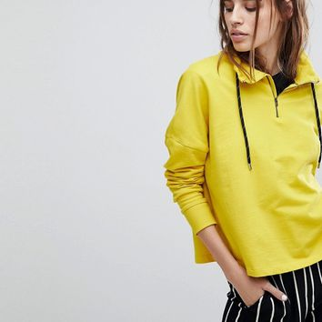 Noisy May Gym Funnel Neck Hoodie at asos.com